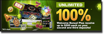 G'day Casino AUD Welcome bonus package